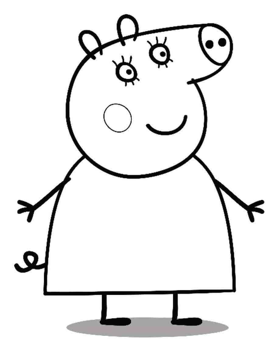 Mumps von Peppa in Etappen. Wie man mit dem Bleistift Schritt für ...