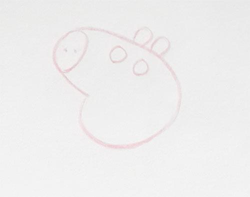 Pigpa Untuk Menarik Cara Menggambar Lada Piggy Dengan Langkah