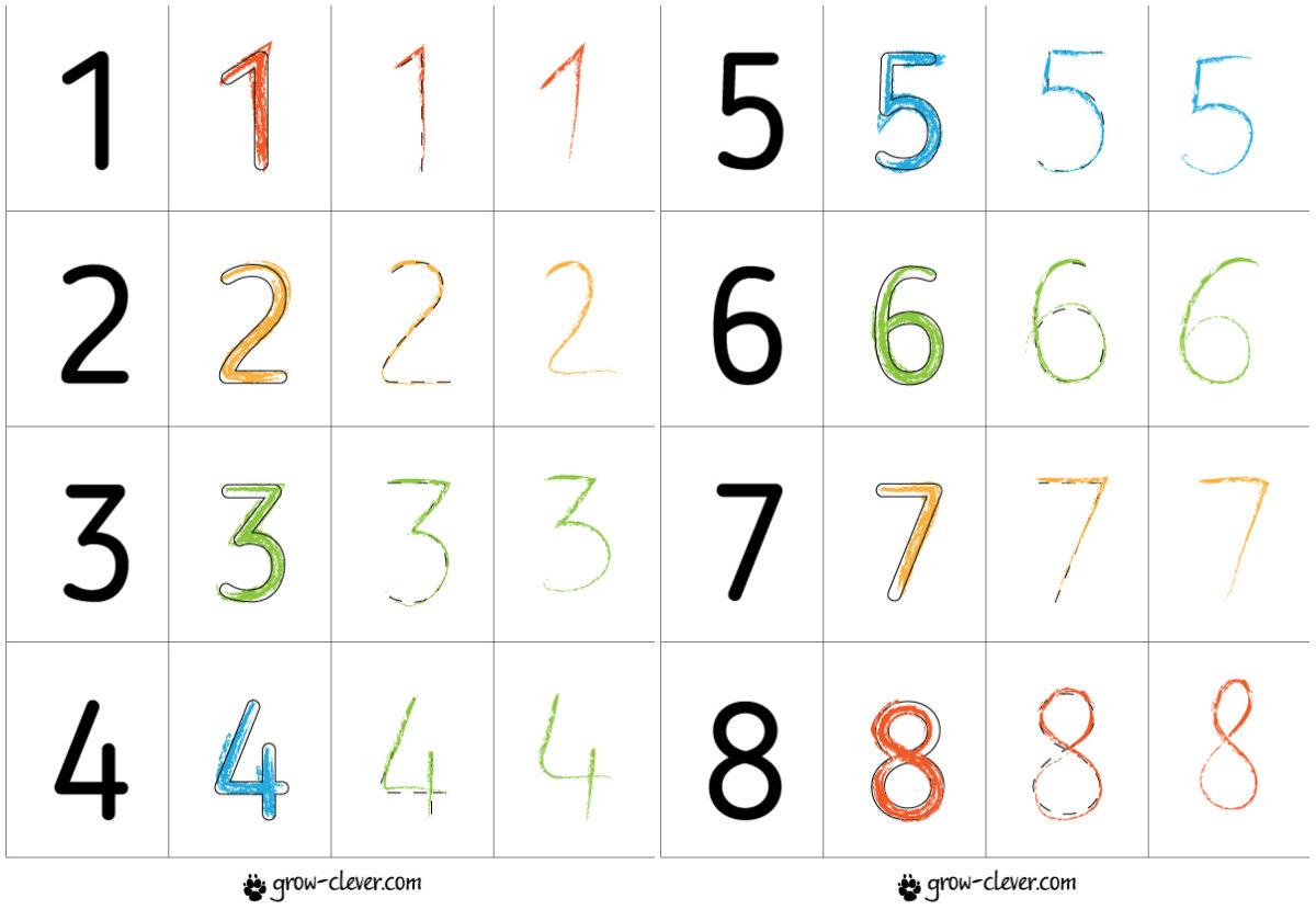 Buchstabieren einer Ziffer 1. Buchstaben von Zahlen